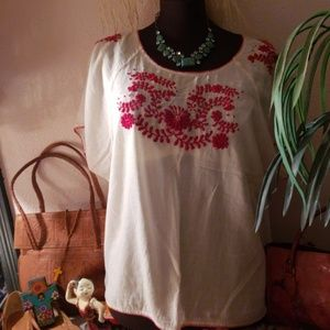 Hand made a 100% hot and blouse size extra large p